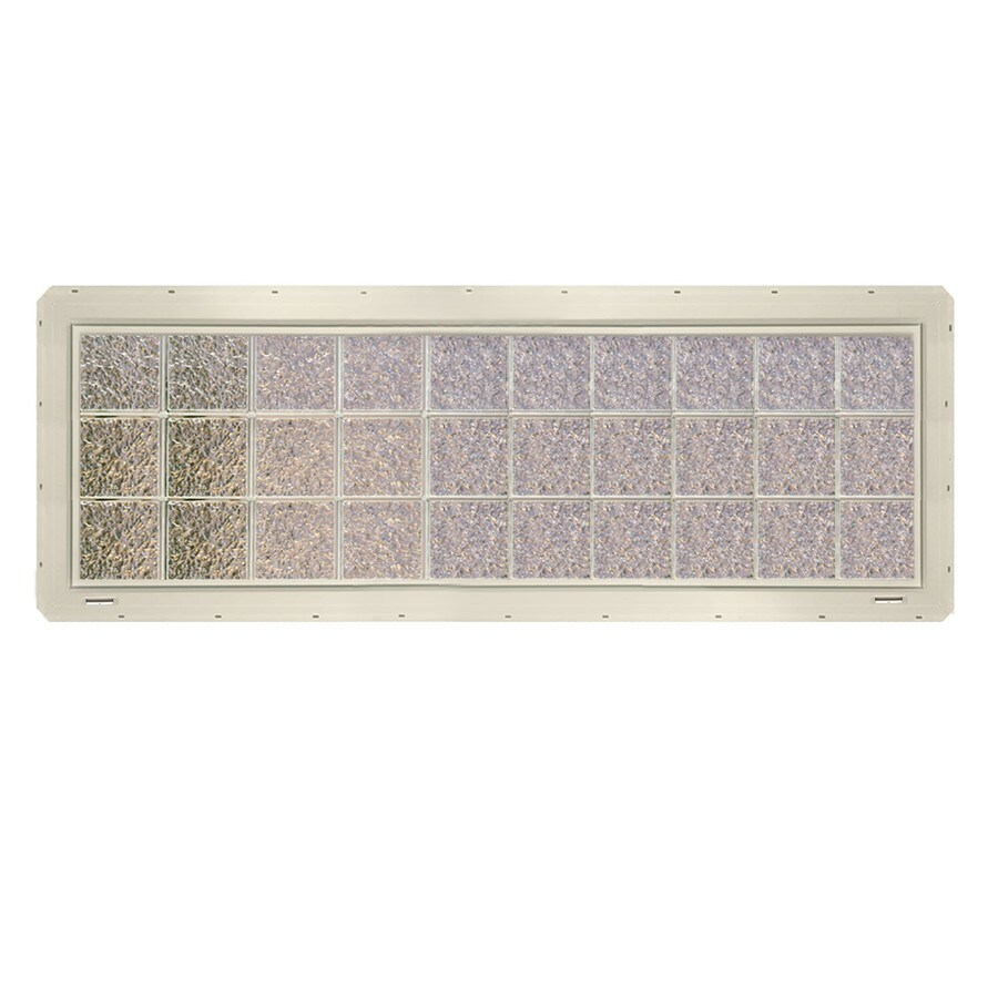 CrystaLok Ice Pattern Vinyl Glass Block Window (Rough Opening: 79.75-in x 25.5-in; Actual: 76.75-in x 24.25-in)