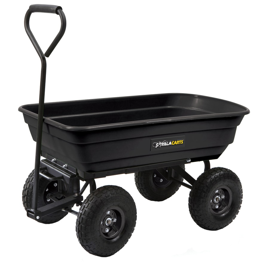 lowes utility cart office utility gorilla carts 3cu ft poly yard cart shop at lowescom