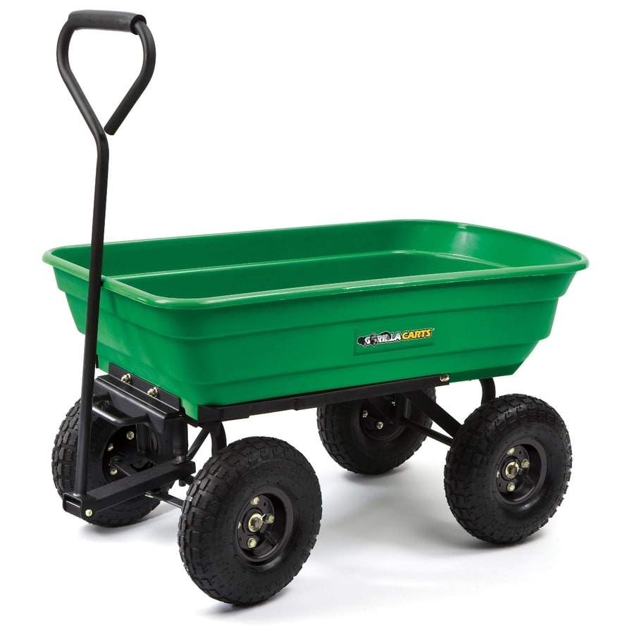 Shop Gorilla Carts 3 cu ft Poly Yard Cart at Lowescom