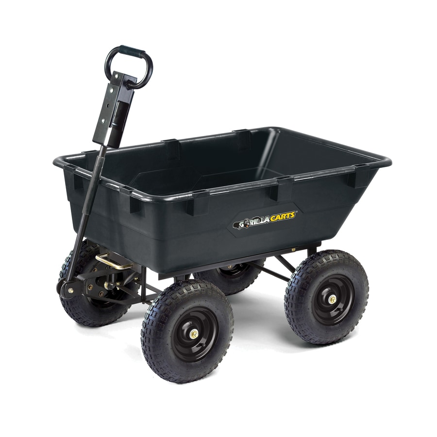 Shop Gorilla Carts 55 cu ft Poly Yard Cart at Lowescom