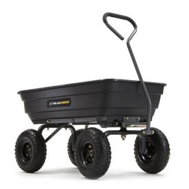 Gorilla Carts 4-cu ft Poly Yard Cart