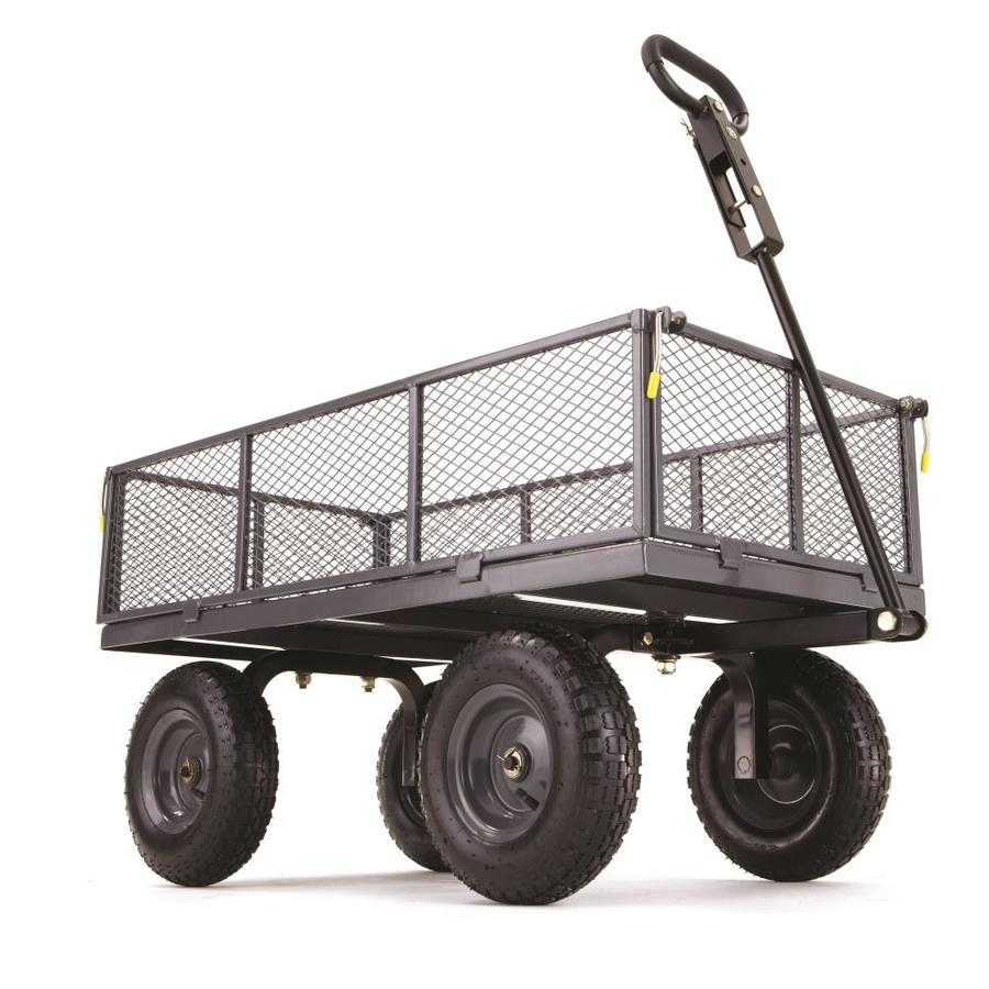 Shop Gorilla Carts 6 Cu Ft Steel Yard Cart At Lowes Com