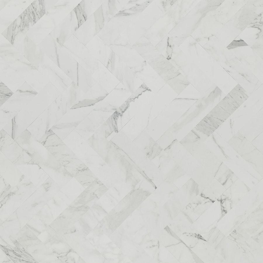 Formica Brand Laminate Patterns 30-in x 144-in White Marble Herringbone Matte Laminate Kitchen Countertop Sheet