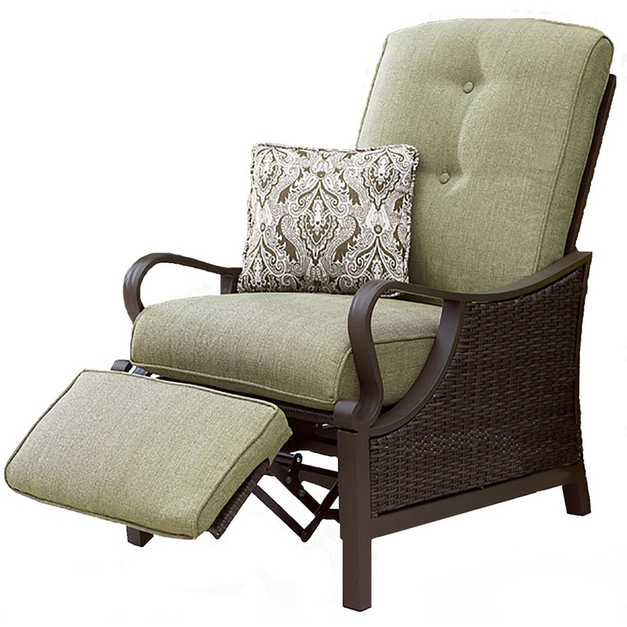 Hanover Outdoor Furniture Ventura Wicker Recliner Chair With Cushion