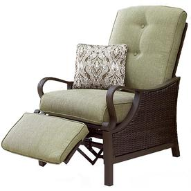 Hanover Outdoor Furniture Ventura Wicker Steel Recliner Chair With Cushion