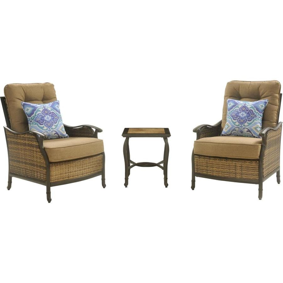 Superior Hanover Outdoor Furniture Hudson Square 3 Piece Lounge Set