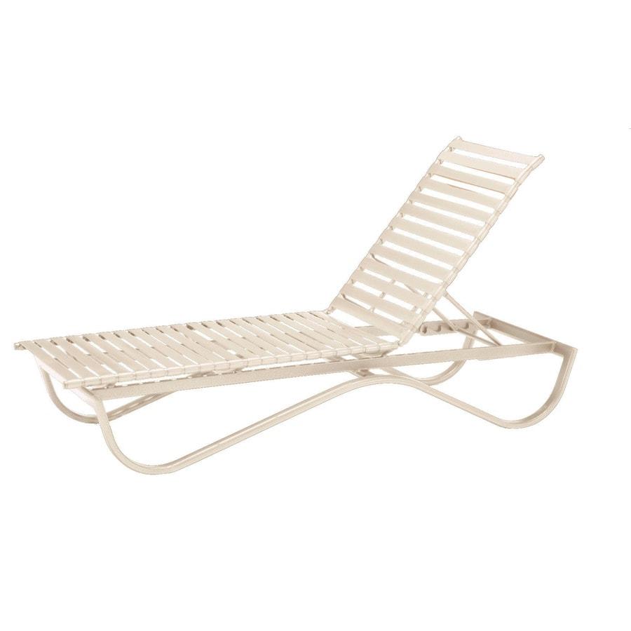 Shop sun isle preston antique bisque aluminum stackable - Chaise longue aluminium ...