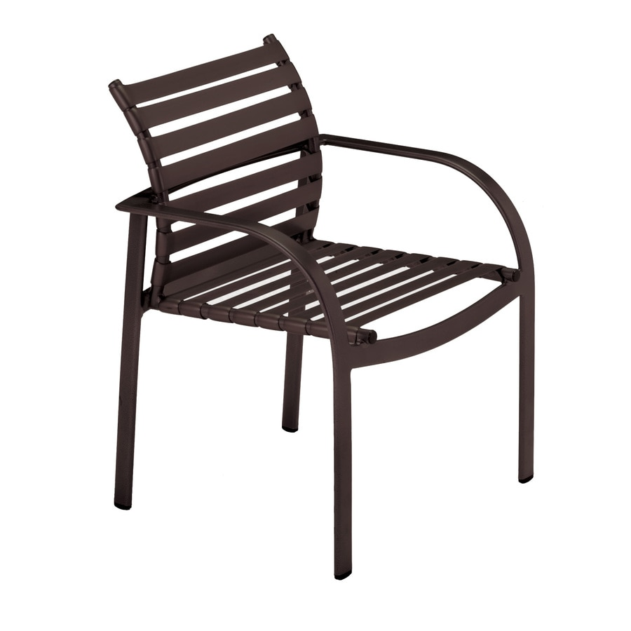 Sun Isle Preston 2-Count Java Aluminum Stackable Patio Dining Chair