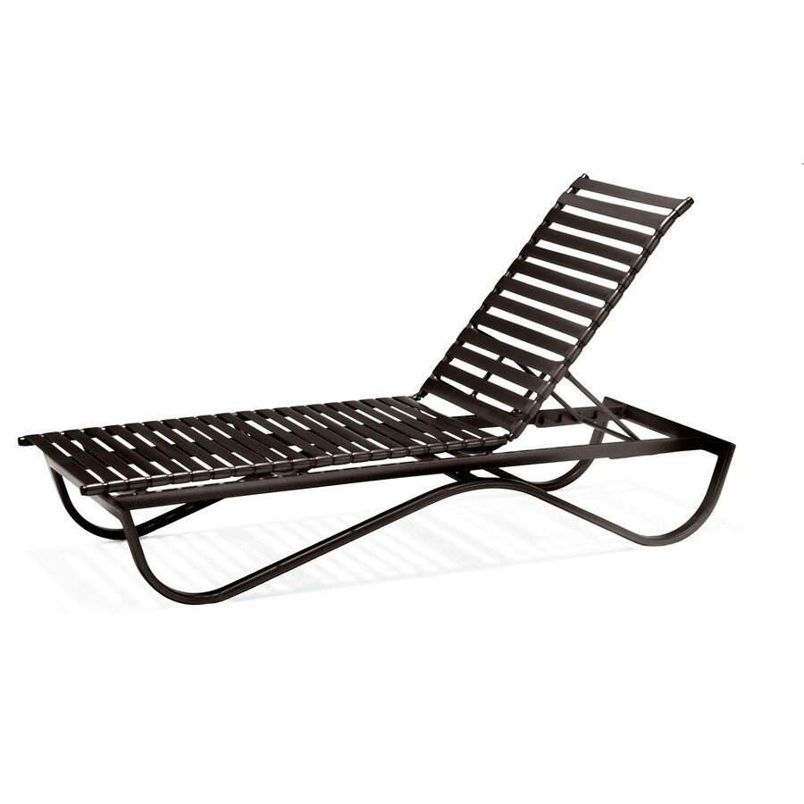 Sun Isle Preston Java Aluminum Stackable Patio Chaise Lounge Chair