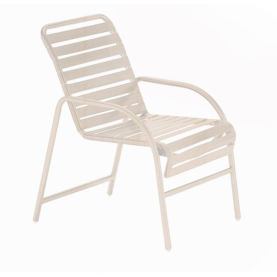 Sun Isle Parker 2-Count Antique Bisque Aluminum Stackable Patio Dining Chair