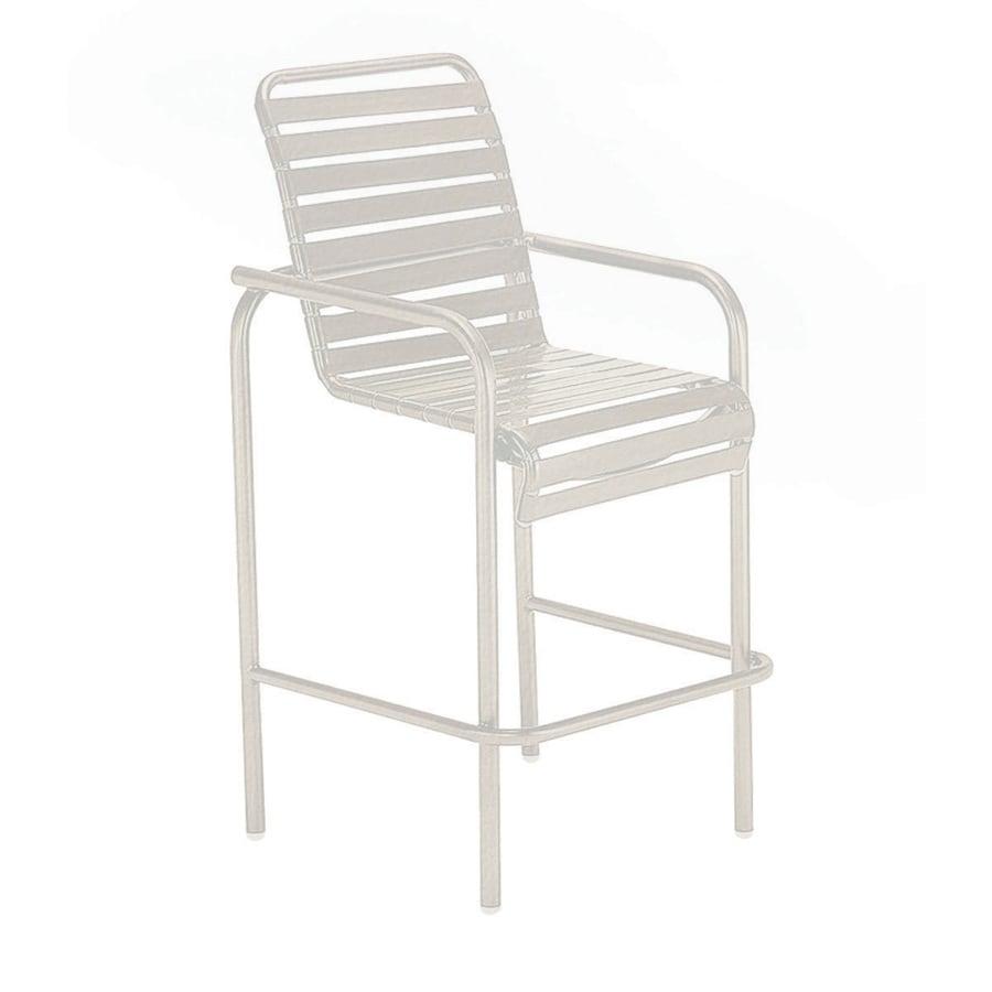 Sun Isle Parker Antique Bisque Aluminum Stackable Patio Bar Stool Chair