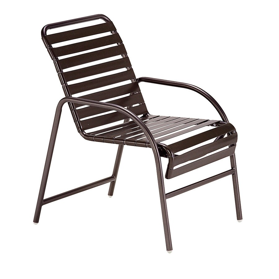 Sun Isle Parker 2-Count Java Aluminum Stackable Patio Dining Chair