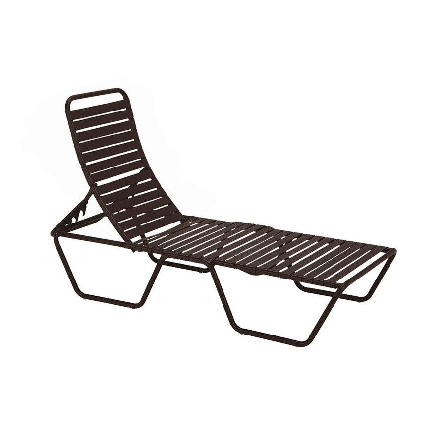 Sun Isle Parker Java Aluminum Stackable Patio Chaise Lounge Chair