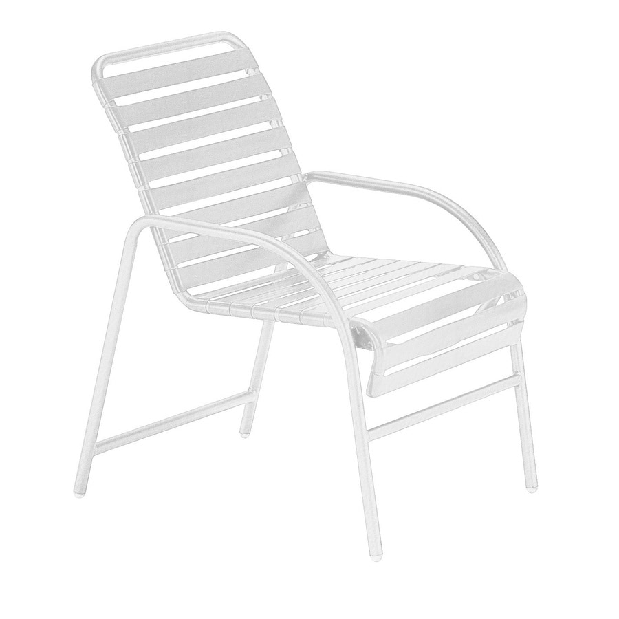 Sun Isle Parker 2-Count White Aluminum Stackable Patio Dining Chair