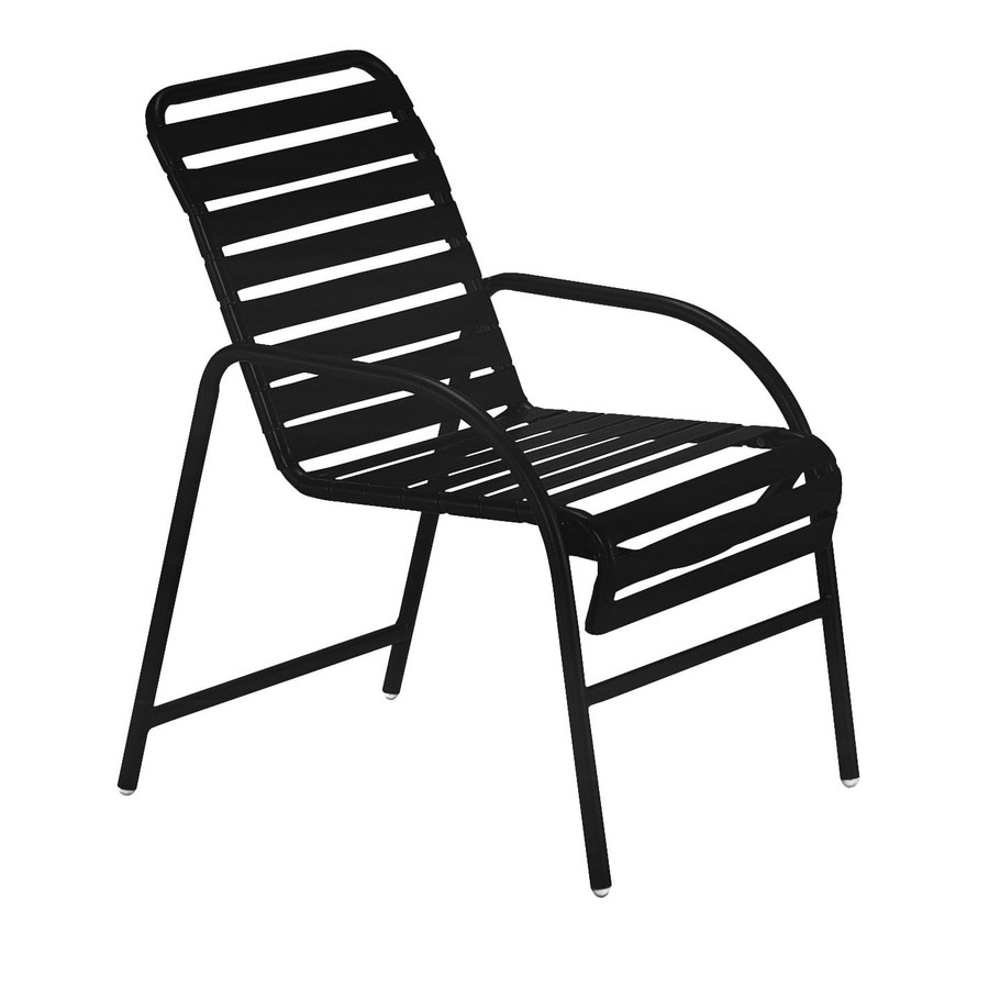 shop sun isle parker set of 2 aluminum dining chairs with black