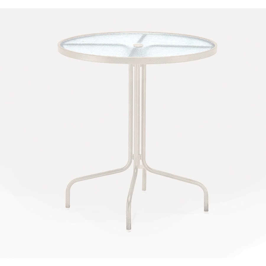 shop sun isle 36 in w x 36 in l round aluminum bar table at lowes com