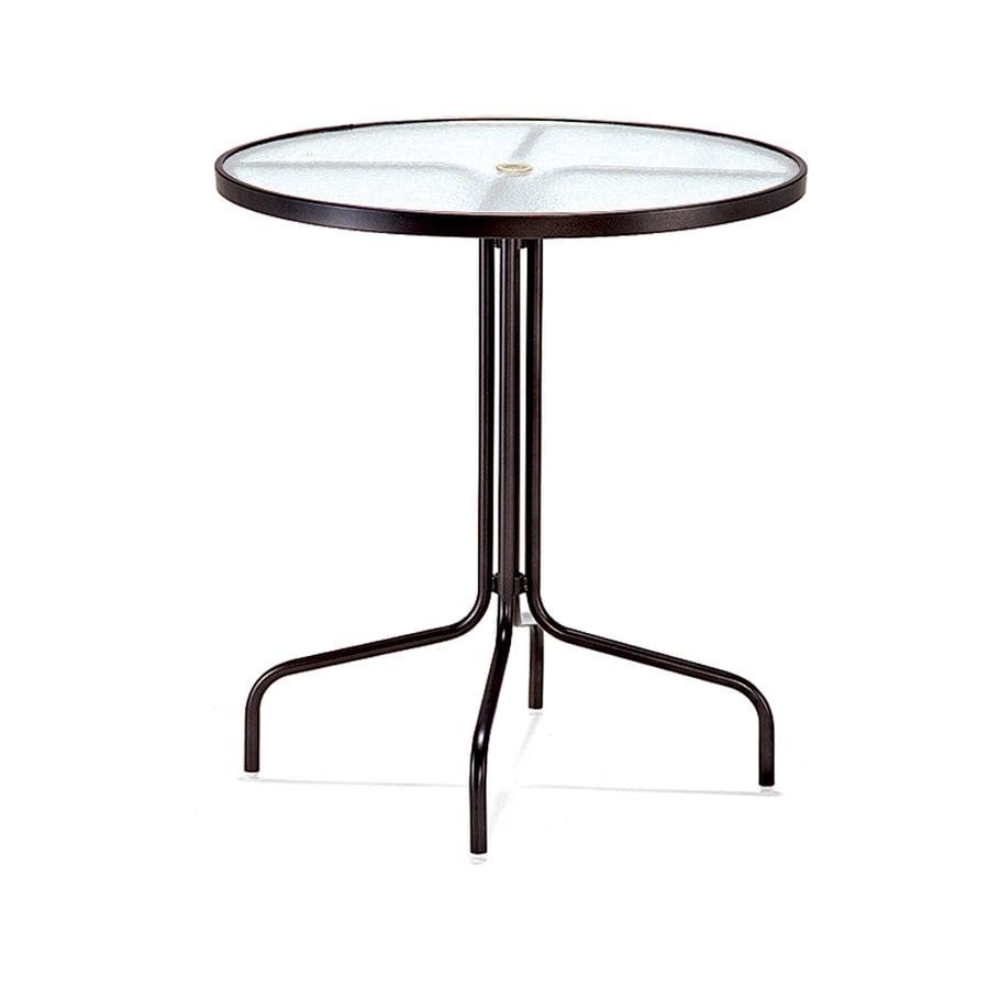 Sun Isle 36-in W x 36-in L Round Aluminum Bar Table