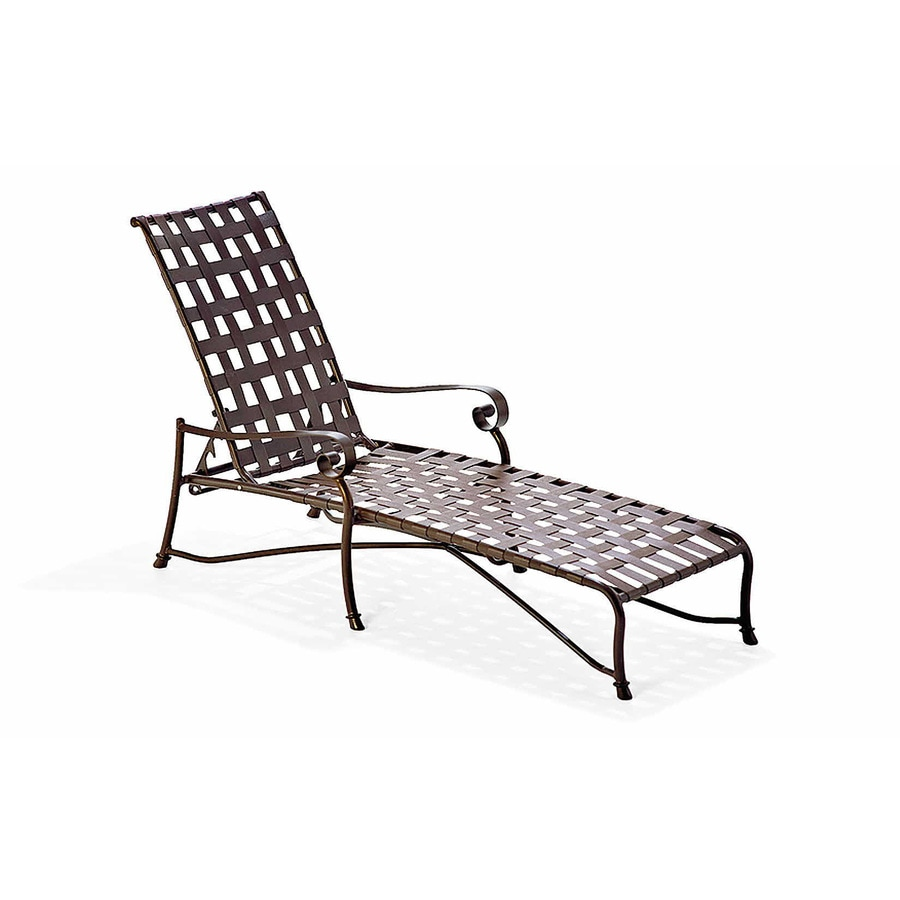 aluminum lounge chairs patio furniture shop oakland living cascade sling black aluminum patio. Black Bedroom Furniture Sets. Home Design Ideas