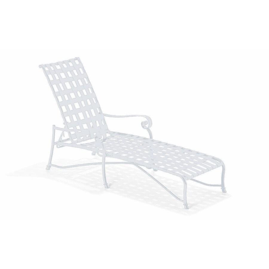 Sun Isle Caitlyn White Aluminum Patio Chaise Lounge Chair