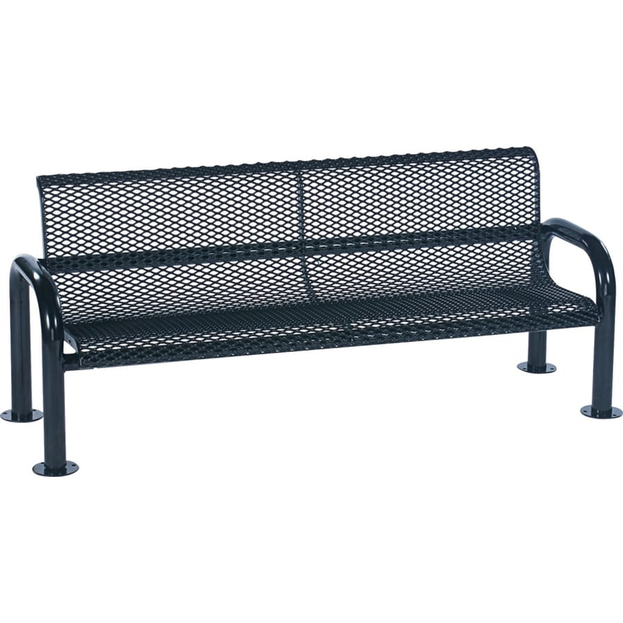 Sun Isle Harmony 28-in W x 83.1-in L Blue Steel Patio Bench