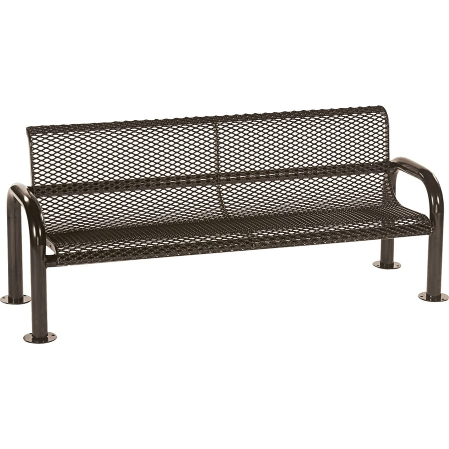 Sun Isle Harmony 28-in W x 83.1-in L Brown Steel Patio Bench