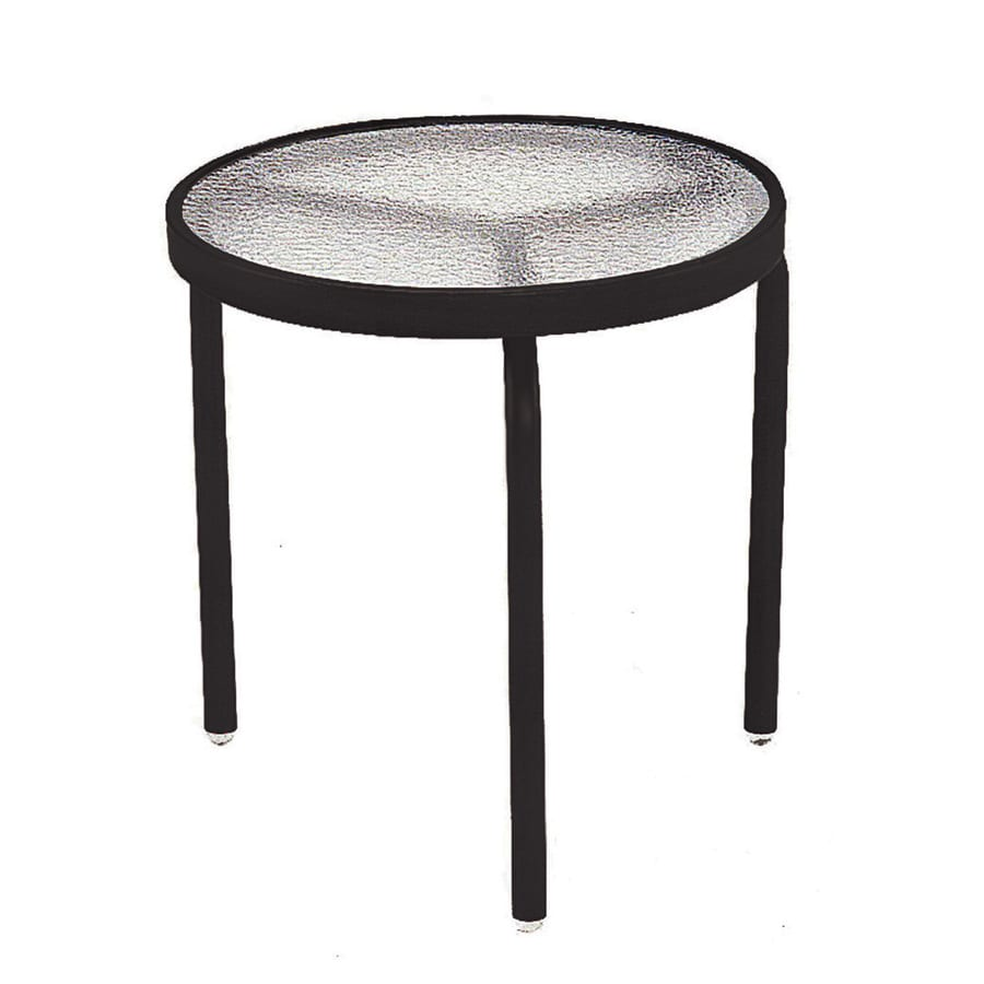 Sun Isle Parker 18-in W x 18-in L Round Aluminum End Table