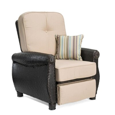 Wondrous Breckenridge Wicker Metal Spring Motion Recliner Chair S With Natural Sand Sunbrella Cushioned Seat Beatyapartments Chair Design Images Beatyapartmentscom