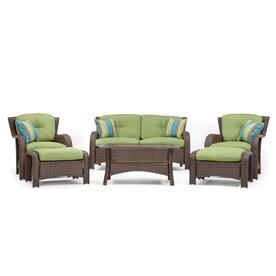 La Z Boy Outdoor Sawyer 6pc Seating Set (Cilantro Green)