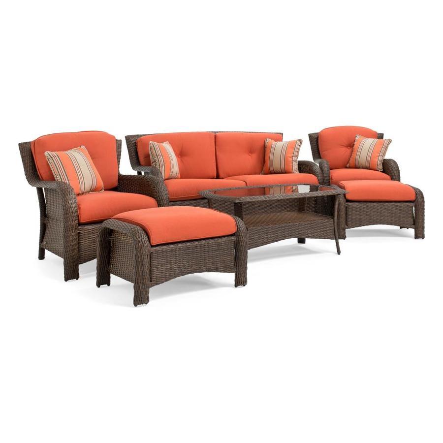 La-Z-Boy Outdoor La-Z-Boy Outdoor Sawyer 6pc Seating Set (Grenadine Orange)