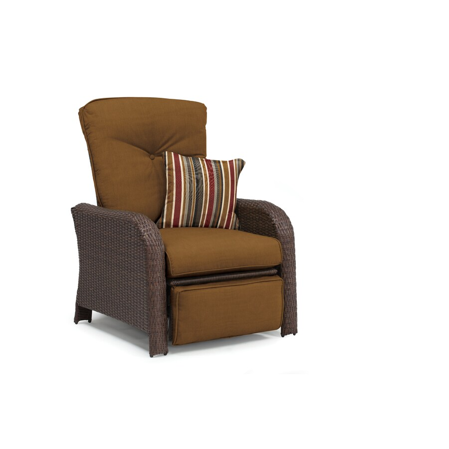 La-Z-Boy Outdoor Sawyer Dark Brown Synthetic Recliner