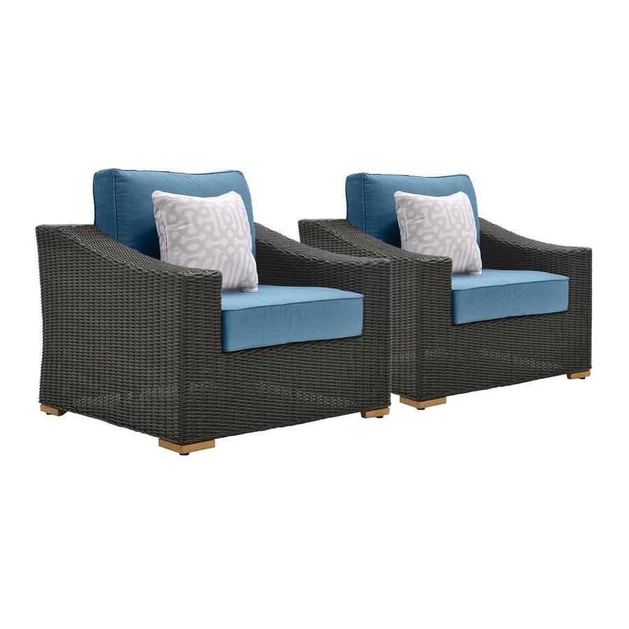 La-Z-Boy Outdoor La-Z-Boy Outdoor New Boston 2pk Lounge Chair Set (Denim Blue)