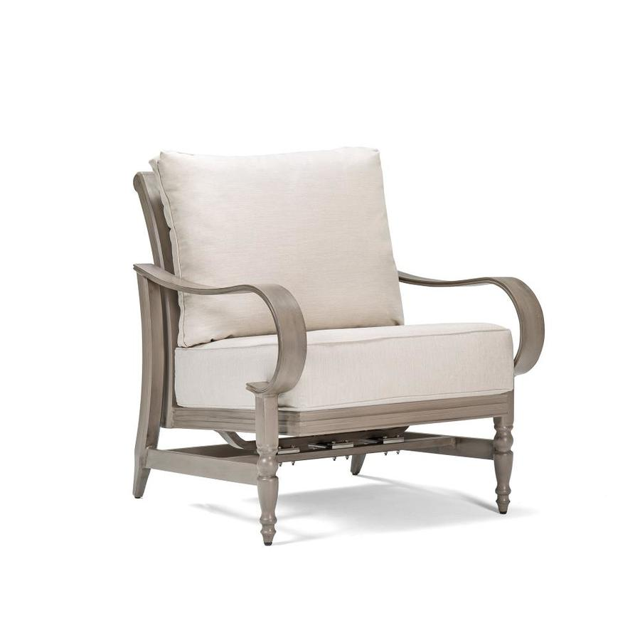 Blue Oak Saylor Woven Aluminum Swivel Conversation Chair