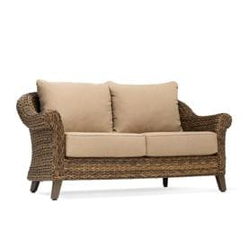 Swell Allen Roth Glenlee Wicker Outdoor Loveseat With Cushion Pdpeps Interior Chair Design Pdpepsorg