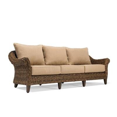 Bahamas Wicker Outdoor Sofa With Cushion And Aluminum Frame