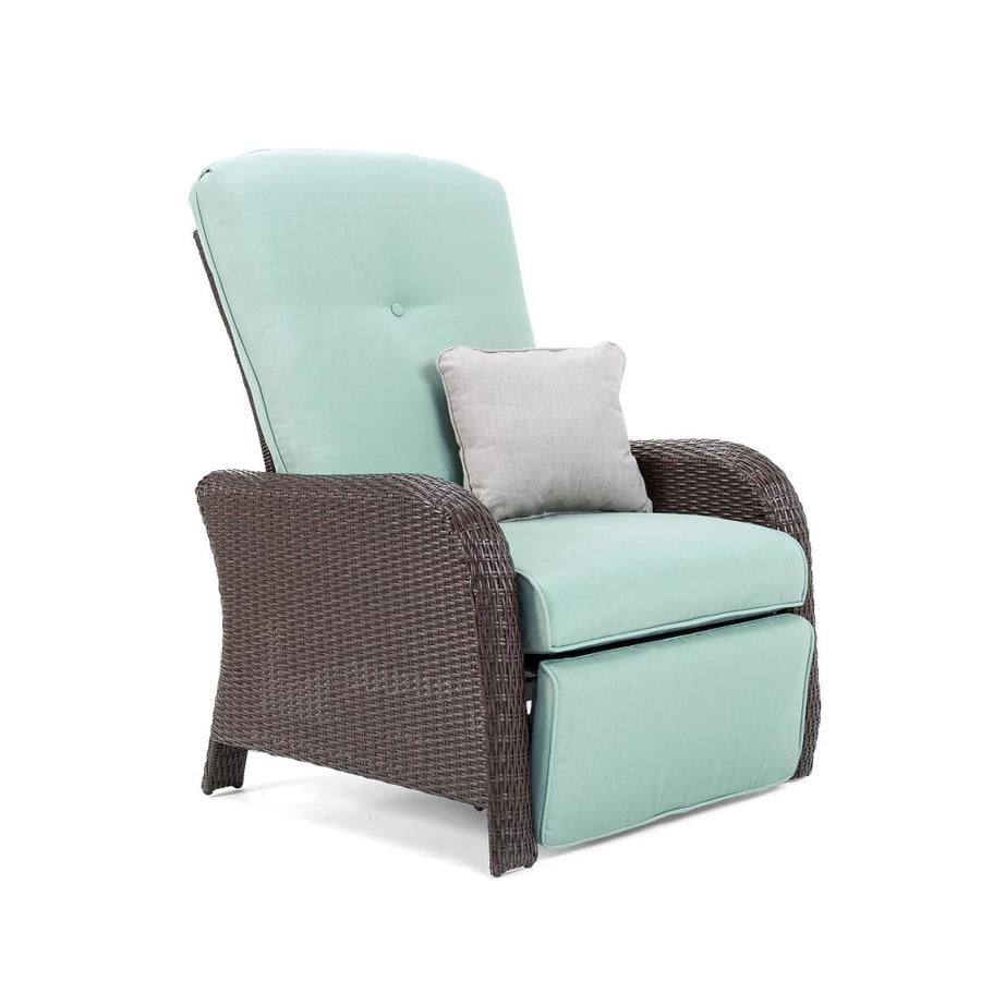 La Z Boy Outdoor Sawyer Wicker Steel Recliner Chair With