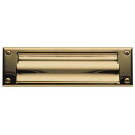 BALDWIN Lifetime Polished Brass Mail Slot Mounting With Hardware