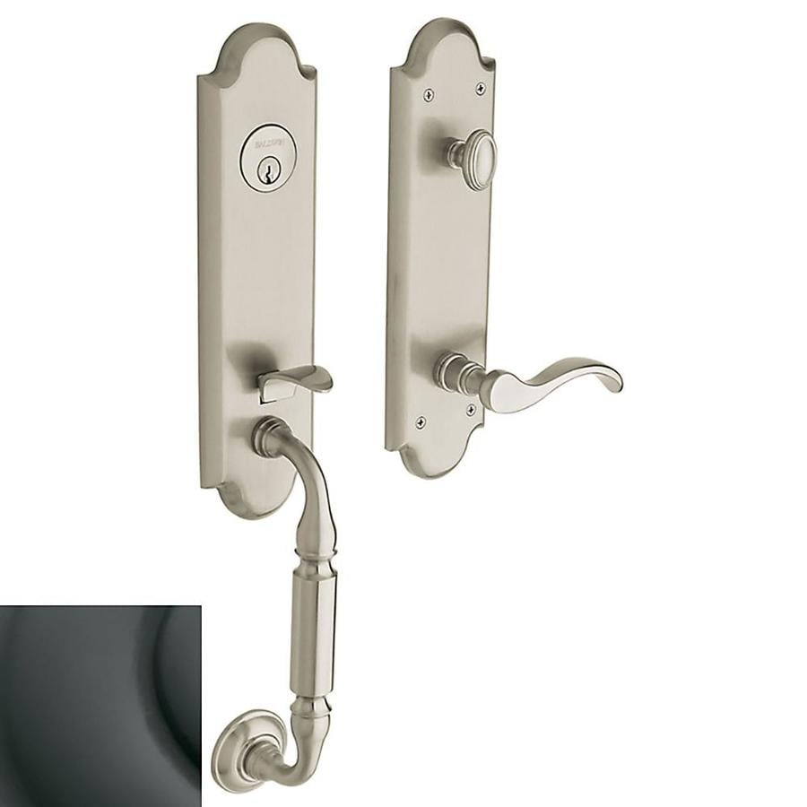 BALDWIN Estate Manchester x Wave Lever Oil-Rubbed Bronze Emergency Egress-Lock Keyed Entry Door Handleset