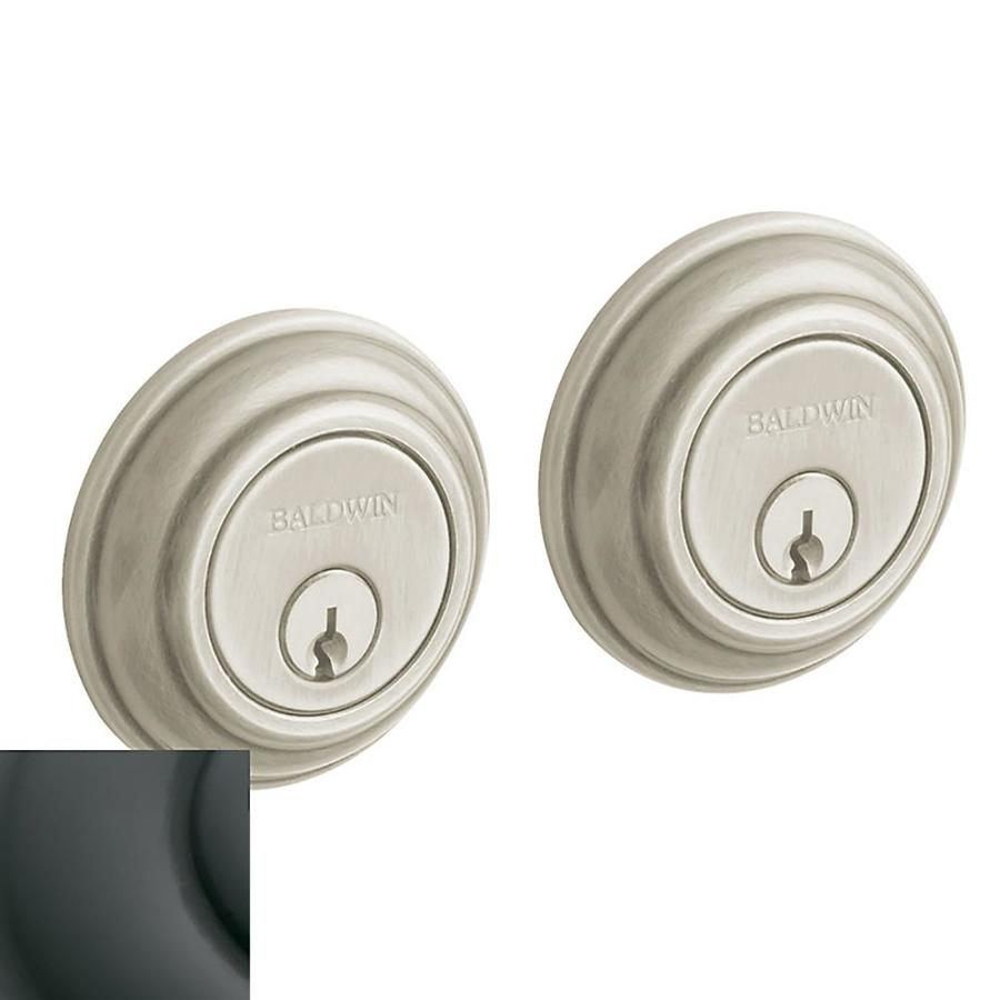 BALDWIN Estate Traditional Oil-Rubbed Bronze Double-Cylinder Deadbolt