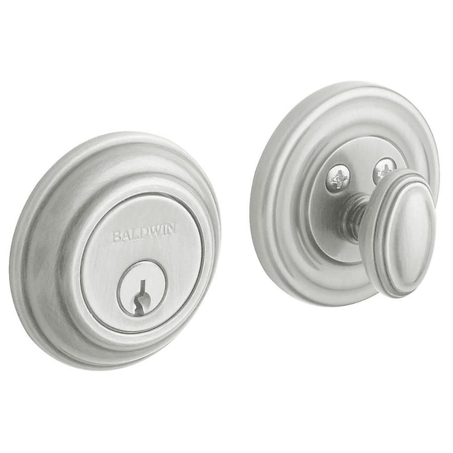 BALDWIN Estate Traditional Satin Chrome Single-Cylinder Deadbolt