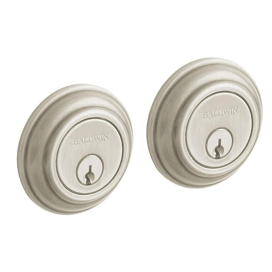 BALDWIN Estate Traditional Satin Nickel Double-Cylinder Deadbolt