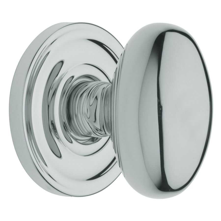 BALDWIN Estate Egg Polished Chrome Dummy Door Knob
