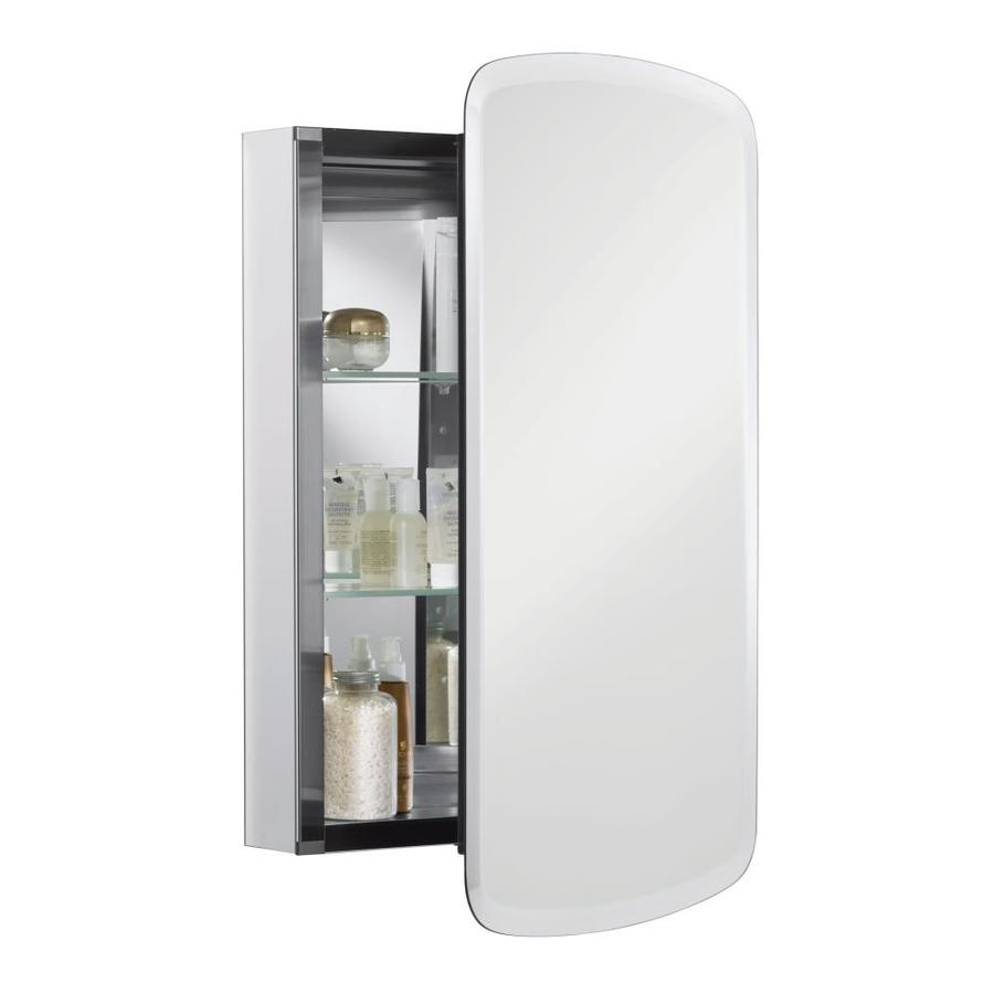 kohler 20in x 31in rectangle mirrored aluminum medicine cabinet