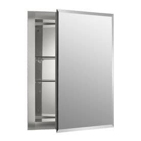 'KOHLER 16-in x 20-in Rectangle Recessed Mirrored Aluminum Medicine Cabinet' from the web at 'https://mobileimages.lowes.com/product/converted/723085/723085001983lg.jpg'
