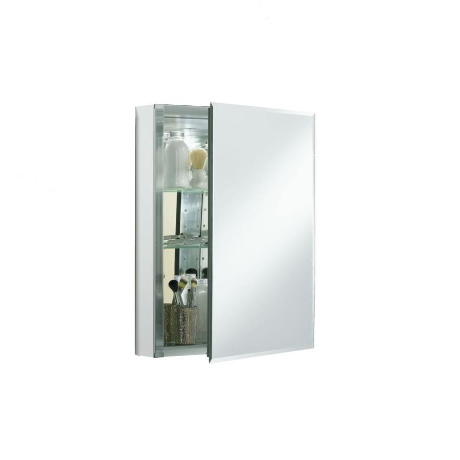 Kohler 20 In X 26 Rectangle Surface Recessed Mirrored Aluminum Medicine Cabinet