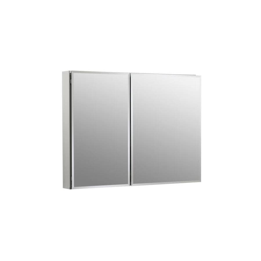 KOHLER 35-in x 26-in Rectangle Surface/Recessed Mirrored Aluminum Medicine Cabinet