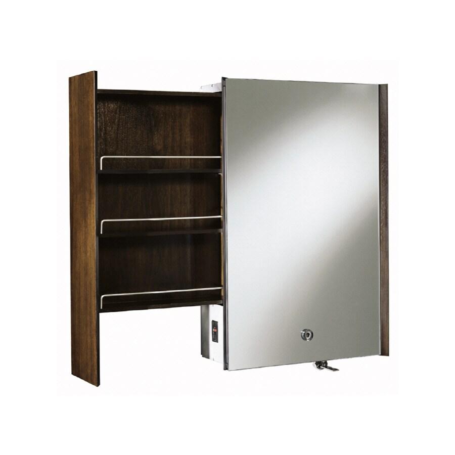 KOHLER Purist 24 In X 36 In Black Walnut Metal Surface Mount Medicine  Cabinet
