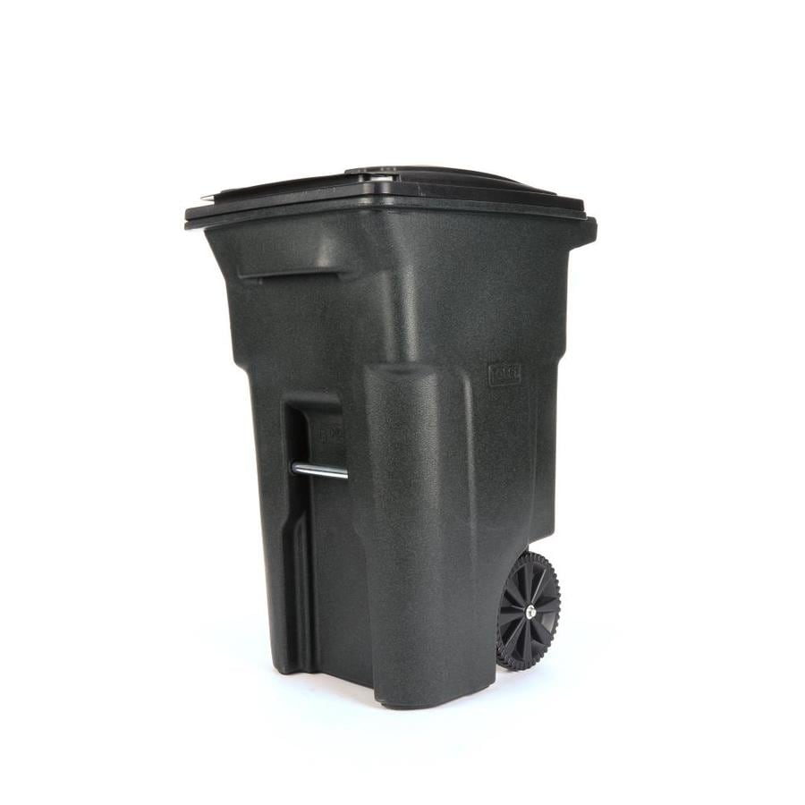 Toter 64-Gallon Greenstone Plastic Wheeled Trash Can with Lid