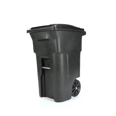Toter Outdoor Trash Can 64 Gallon Greenstone Plastic