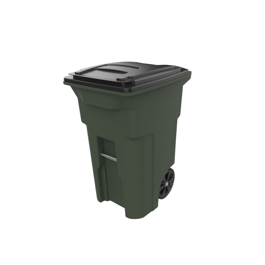 Shop Toter 64 Gallon Standard Green Plastic Wheeled Trash