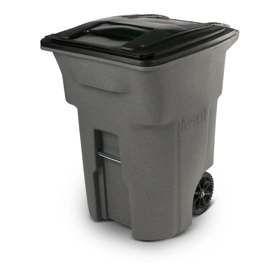 toter 96 gallon. Toter 96-Gallon Graystone Plastic Outdoor Wheeled Trash Can With Lid 96 Gallon U